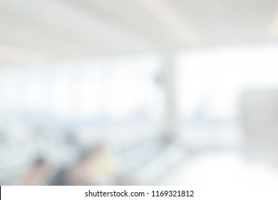 BLURRED OFFICE BACKGROUND, MODERN COMMERCIAL HALL