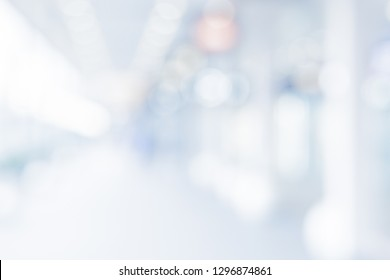 BLURRED OFFICE BACKGROUND, MODERN COMMERCIL SPACE AT DAY LIGHT