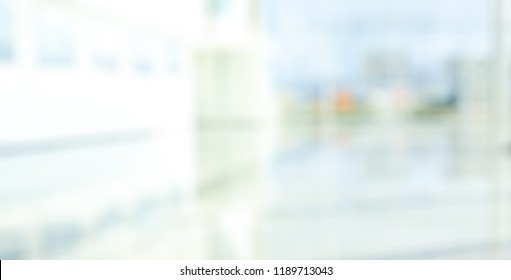 BLURRED OFFICE BACKGROUND, MODERN HOSPITAL INTERIOR