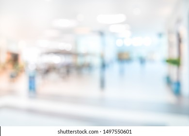 BLURRED OFFICE BACKGROUND, MODERN SPACIOUS HALL