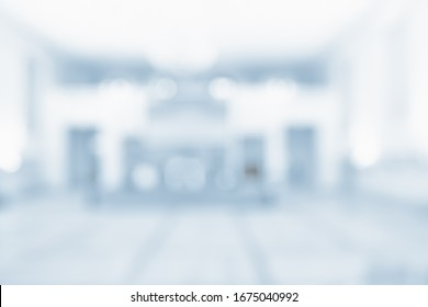 BLURRED OFFICE BACKGROUND, MODRN SPACIOUS BUSINESS HALL