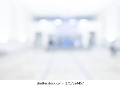 BLURRED OFFICE BACKGROUND, SPACIOUS COMMERCIAL HALL, MEDICAL INTERIOR