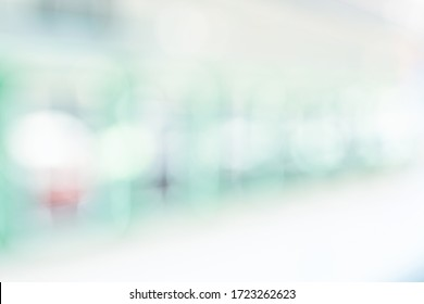 BLURRED OFFICE WITH BOKEH LIGHTS BACKGROUND