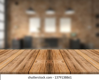 blurred office desk
