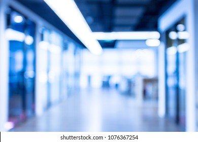 Blurred office interior space background