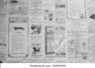 Blurred Old newspaper background