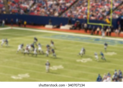 A blurred out of focus background effect, New York, American Football Game
