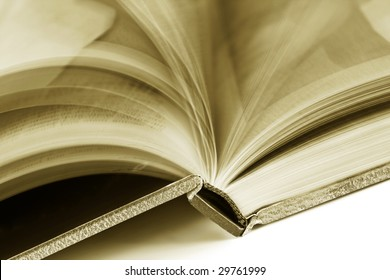 blurred pages of a book