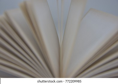 Blurred pages on white background