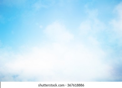 blurred peaceful natural blue sky clouds landscape background