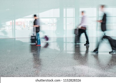 Blurred People at Airport