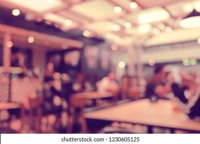 Blurred People Bar restaurant cafe interior background.