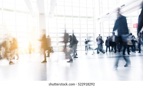 Blurred people at a floor, germany