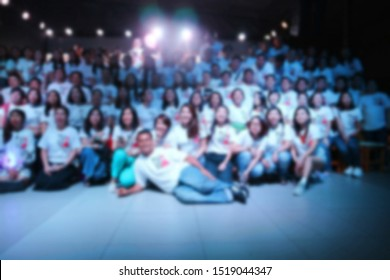 Blurred of people in school reunion party