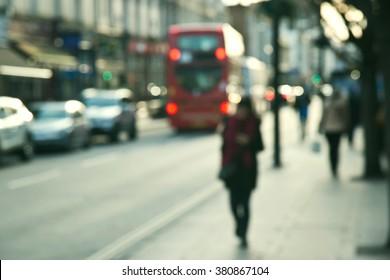 Blurred People, street of London