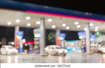 Blurred of Petrol station