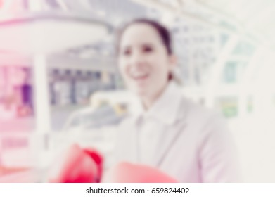 Blurred photo, Blurry image, businessman is working, background