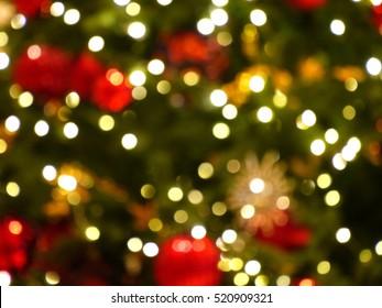 Blurred photo of Christmas lights
