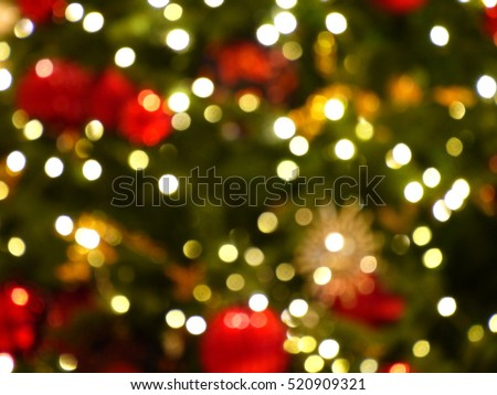 Blurred photo of Christmas lights