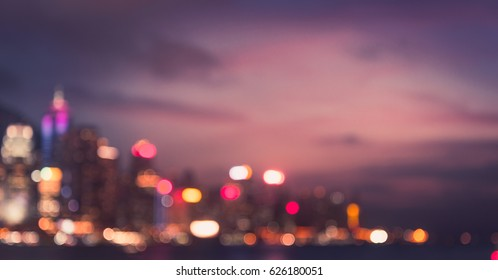 Blurred Photo cityscape with bokhe abstract background,Background concept