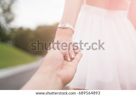 Blurred Photo Valentines Couples Who Hold Stock Photo Edit Now