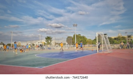 Blurred picture of Futsal competition stadium for background usage.