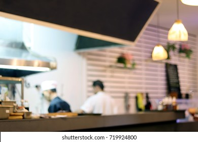 Blurred picture of Restaurant, Dining room, Home cooking for Background