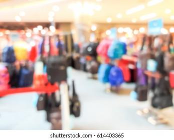 Blurred picture of the shoulder bag shop.
