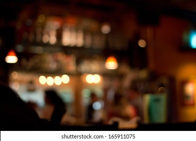 blurred pub background