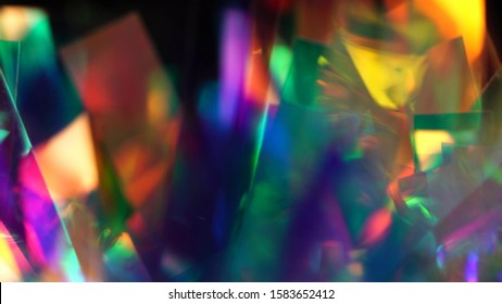 Blurred real glitter texture. Abstract Holographic Background. Blue pink purple neon pastel spectrum gradient