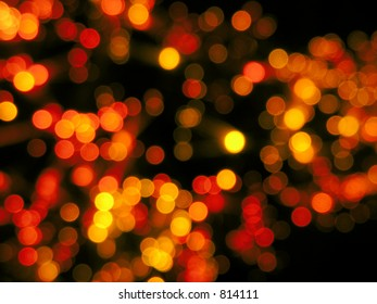 Blurred red christmas lights