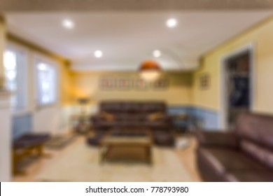 blurred residential interior view
