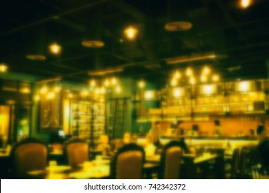 Blurred Restaurant Background.