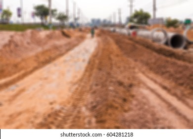 blurred road construction