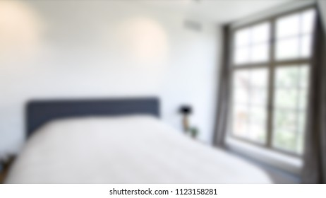 Blurred Room with Modern House Interior Bokeh Background