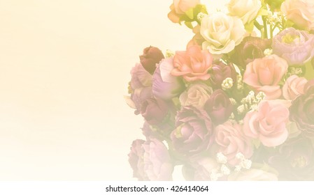 Blurred of rose flower, soft blur for background with pastel style