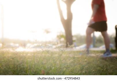 Blurred running