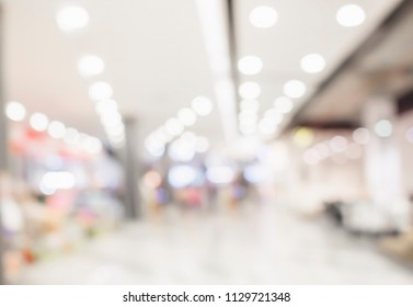 Blurred shopping mall and peple background