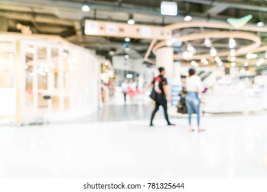 blurred shopping mall and retail store for background