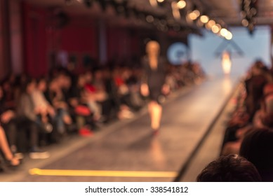 Blurred shot of a fashion show.