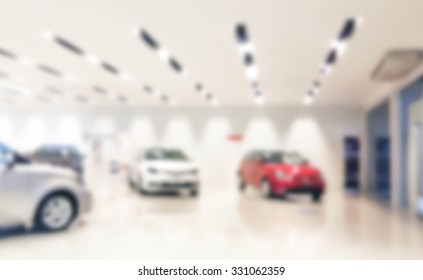 blurred showroom car : for background use