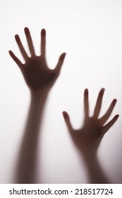 blurred silhouette hands.