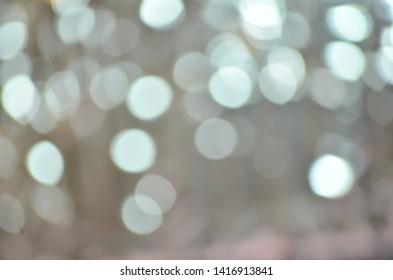 Blurred Silver Grey Lights Bokeh Background