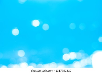 Blurred simple blue background for design template.