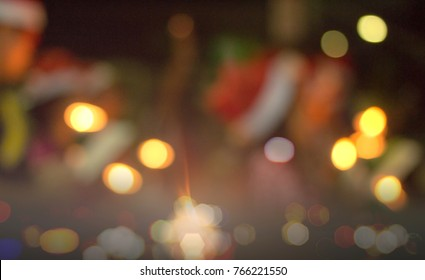 Blurred singing carols songs on Christmas eve night background