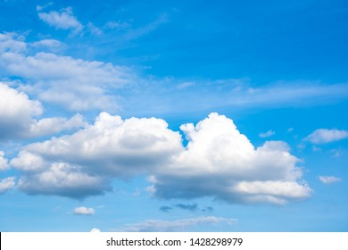 Blurred sky blue or azure sky and cloud white clear daytime is beautiful background