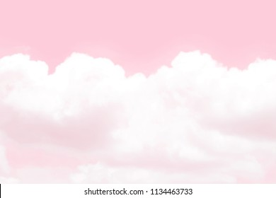 blurred sky soft pink cloud pastel background