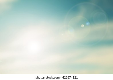 Blurred sky vintage background nature. Beautiful blue Ideas for the vacant posts. Sky in summer Turquoise