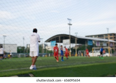 Blurred soccer academy at Chiangmai province, Thailand