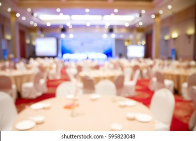 Blurred soft of banquet room for  dinner
